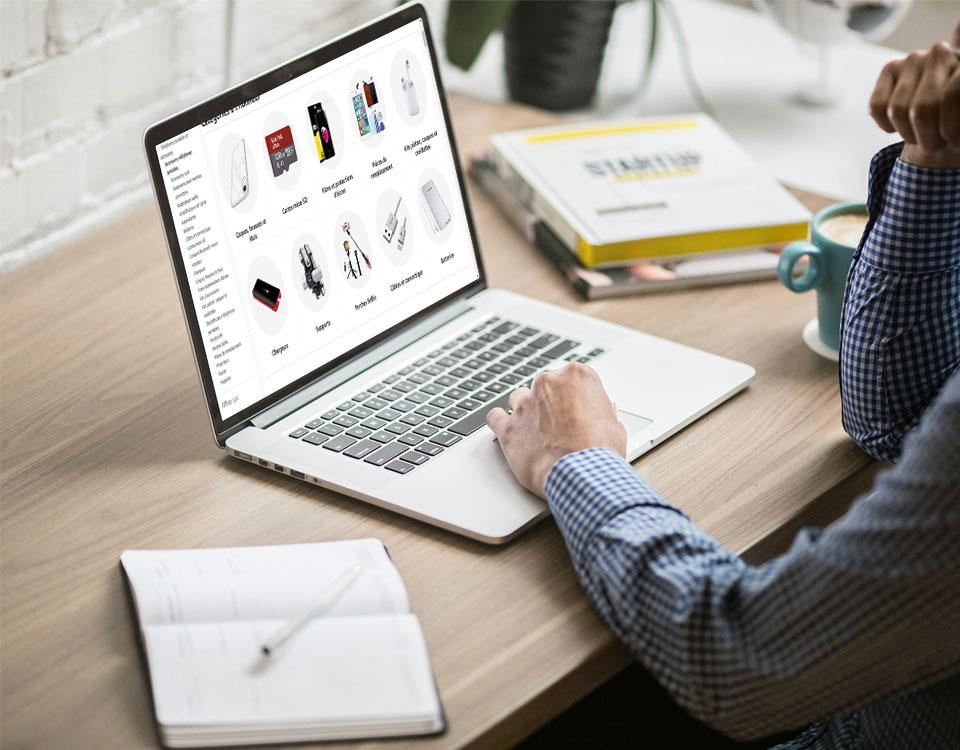 Boutique en ligne d'accessoires high-tech